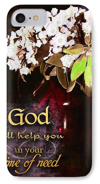 God Will Help You Phone Case by Michelle Greene Wheeler