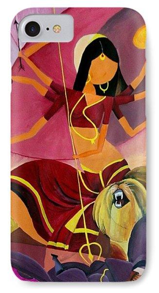 Goddess Durga Phone Case by Amrita M
