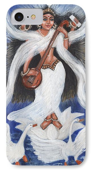 IPhone Case featuring the painting Goddess Of Arts by Saranya Haridasan