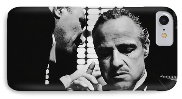 Godfather Brando IPhone Case by Daniel Hagerman