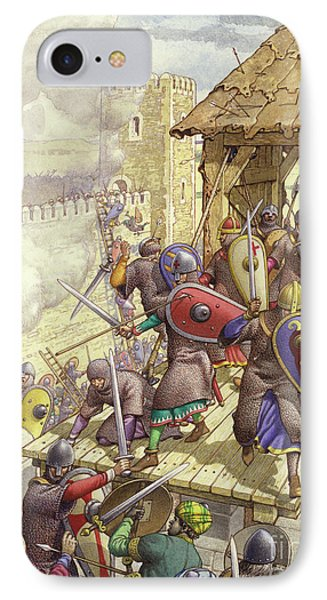 Godfrey De Bouillon's Forces Breach The Walls Of Jerusalem IPhone Case by Pat Nicolle