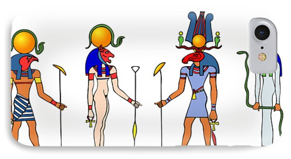 Gods And Goddess Of Ancient Egypt Phone Case by Michal Boubin