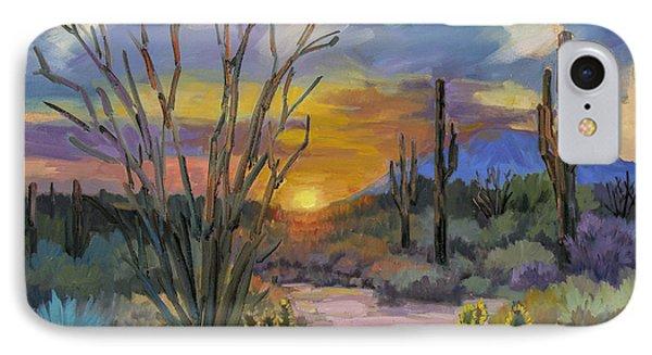 Desert Sunset iPhone 7 Case - God's Day - Sonoran Desert by Diane McClary