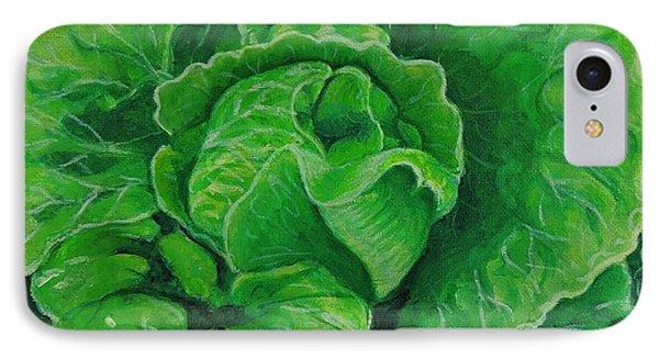 God's Kitchen Series No 5 Lettuce IPhone Case by Caroline Street