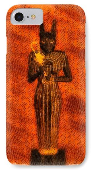 Gods Of Egypt - Bastet IPhone Case by Raphael Terra