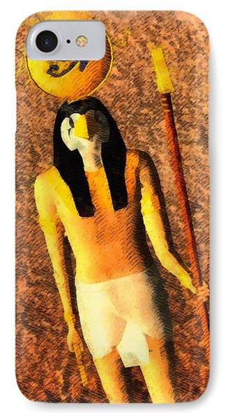 Gods Of Egypt - Horus IPhone Case by Raphael Terra