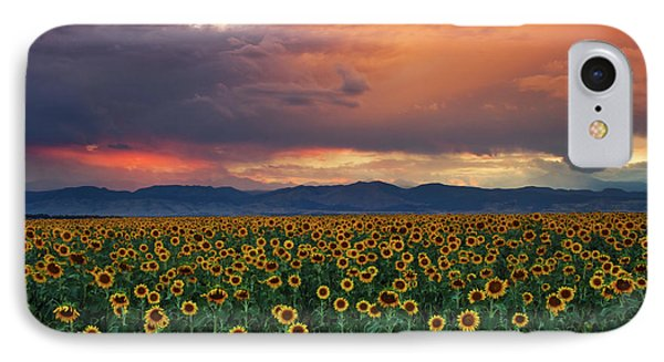 IPhone Case featuring the photograph God's Sunflower Sky by John De Bord