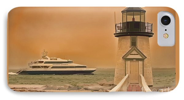 IPhone Case featuring the photograph Godspeed At Brant Point Nantucket Island by Jack Torcello