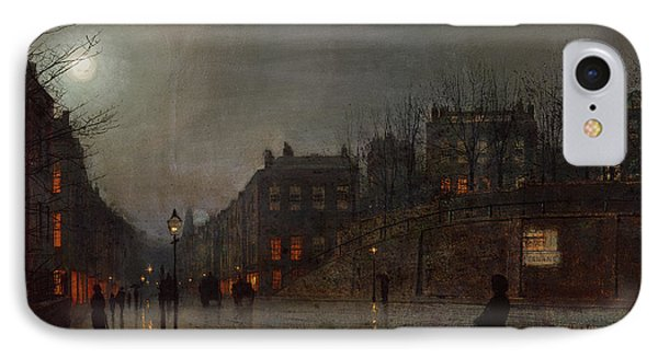 Going Home At Dusk IPhone Case by John Atkinson Grimshaw