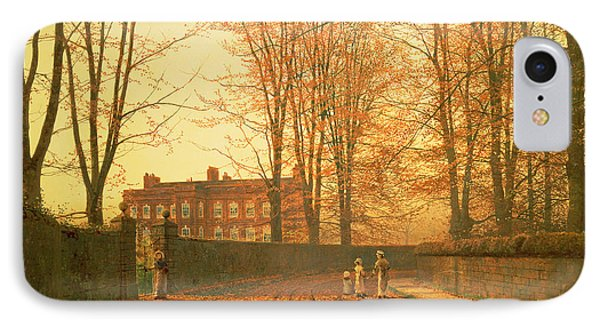 Going To Church Phone Case by John Atkinson Grimshaw