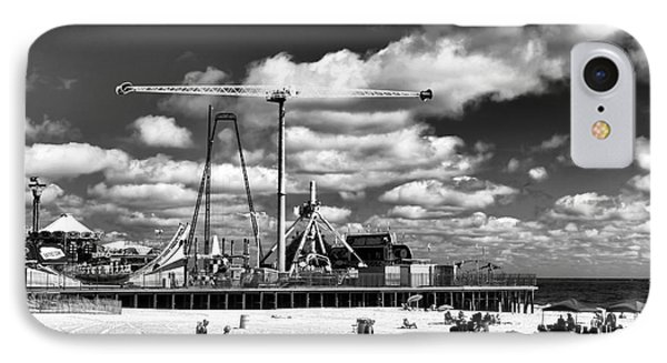 Going To The Beach Mono IPhone Case by John Rizzuto