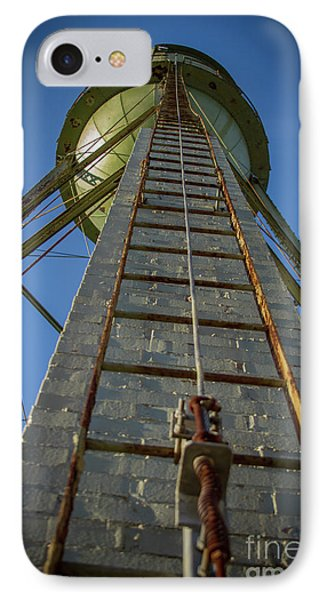 IPhone Case featuring the photograph Going Up Mary Leila Cotton Mill Water Tower Art by Reid Callaway