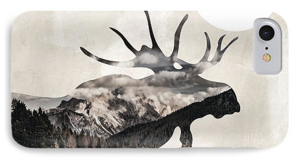 Going Wild Moose IPhone Case by Mindy Sommers