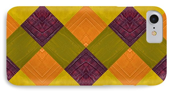 Gold And Green With Orange 2.0 IPhone Case by Michelle Calkins