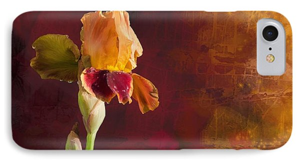 Gold And Red Iris IPhone Case by Debra Baldwin