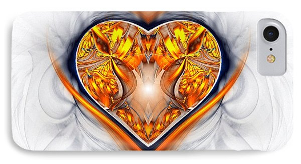 Gold And Sapphire Heart  Phone Case by Sandra Bauser Digital Art