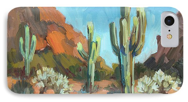 IPhone Case featuring the painting Gold Canyon by Diane McClary