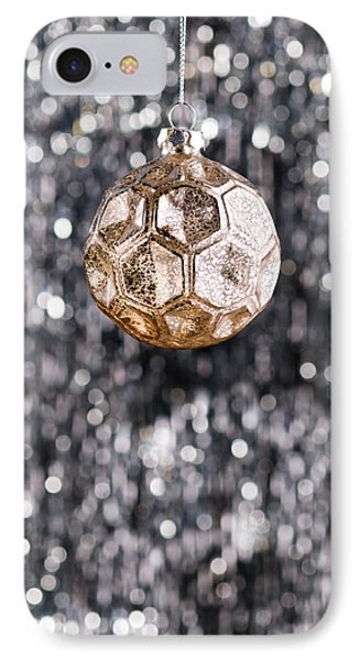 IPhone Case featuring the photograph Gold Christmas by Ulrich Schade
