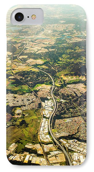 Gold Coast Aerial Photograph IPhone Case by Jorgo Photography - Wall Art Gallery