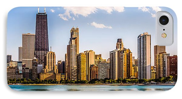 Gold Coast Chicago Skyline Panorama IPhone Case by Paul Velgos