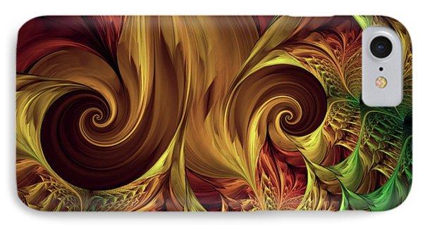 Gold Curl IPhone Case by Deborah Benoit