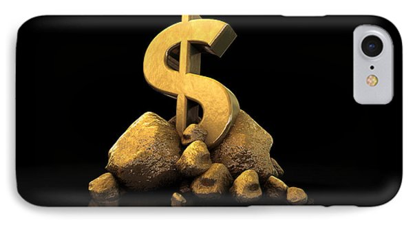 Gold Dollar Sign IPhone Case by Allan Swart