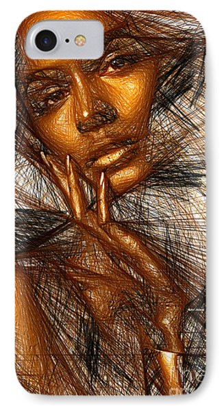 Gold Fingers IPhone Case by Rafael Salazar