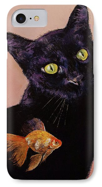 Gold Fish IPhone Case by Michael Creese