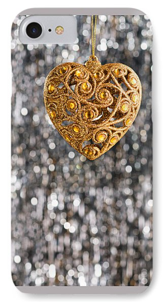 IPhone Case featuring the photograph Gold Heart  by Ulrich Schade
