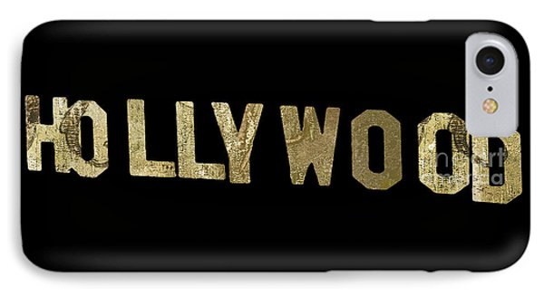 Beverly Hills iPhone 7 Case - Gold Hollywood Sign by Mindy Sommers
