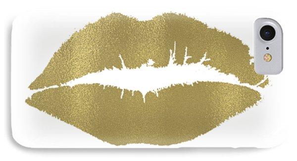 Gold Lips Kiss IPhone Case