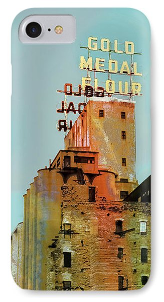 IPhone Case featuring the photograph Gold Medal Flour Pop Art by Susan Stone