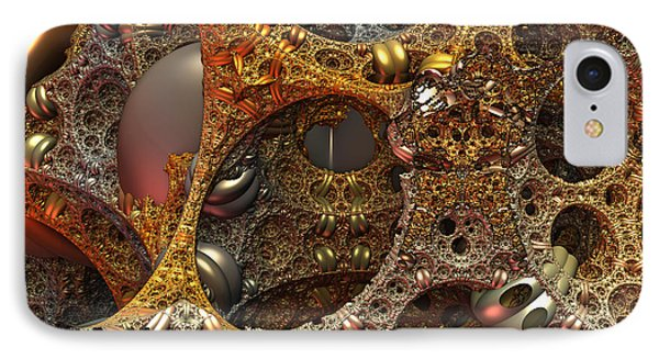 IPhone Case featuring the digital art Gold Mine by Lyle Hatch