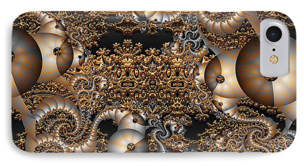 IPhone Case featuring the digital art Gold Rush by Robert Orinski