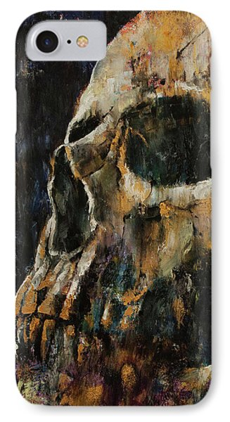 Gold Skull IPhone Case by Michael Creese