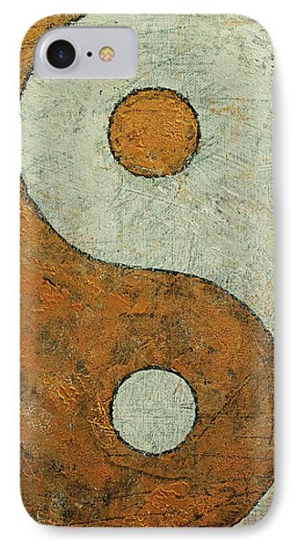 Gold Yin Yang IPhone Case by Michael Creese