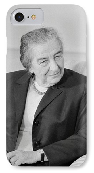 Golda Meir - Israeli Prime Minister IPhone Case by War Is Hell Store