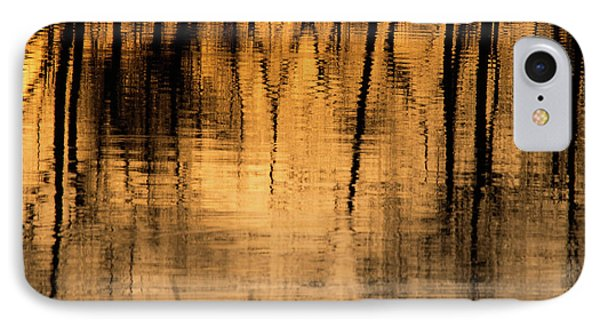 Golden Abstract IPhone Case by Shevin Childers