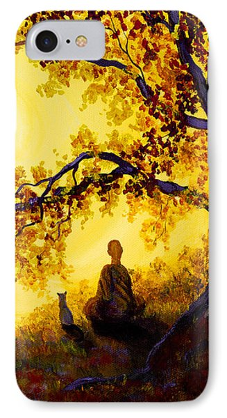 Golden Afternoon Meditation IPhone Case by Laura Iverson