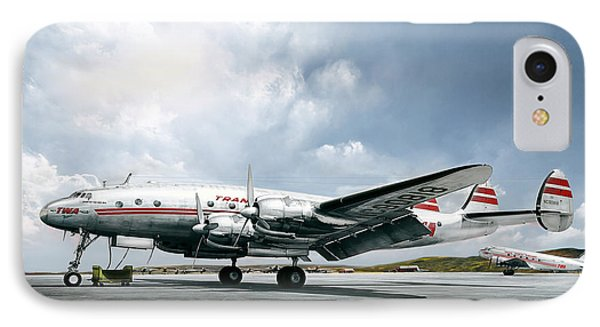Golden Age Aviation - Lockheed Constellation IPhone Case