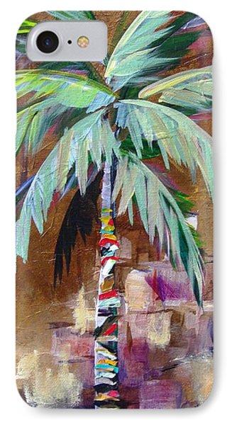 Golden Amethyst Palm IPhone Case by Kristen Abrahamson