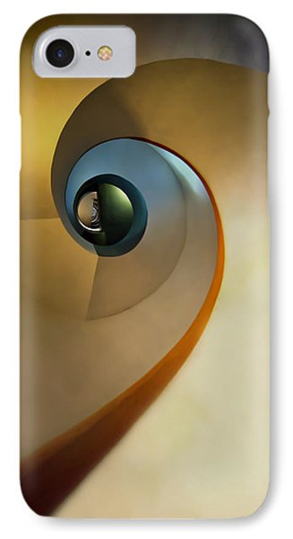 Golden And Brown Spiral Staircase IPhone Case by Jaroslaw Blaminsky