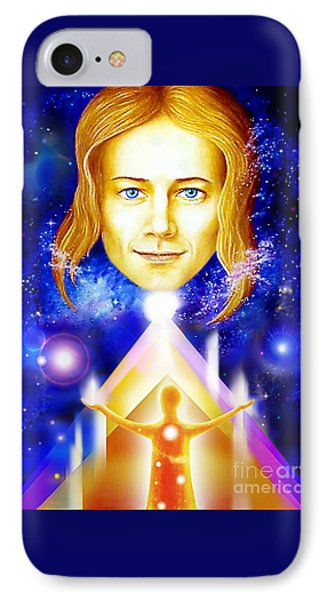 IPhone Case featuring the painting Golden Angel by Hartmut Jager