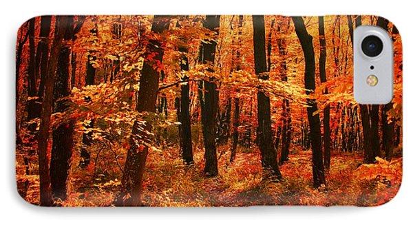 Golden Autumn Forest IPhone Case by Gabriella Weninger - David