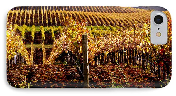 Golden Autumn Vineyard IPhone Case by Jeff Lowe