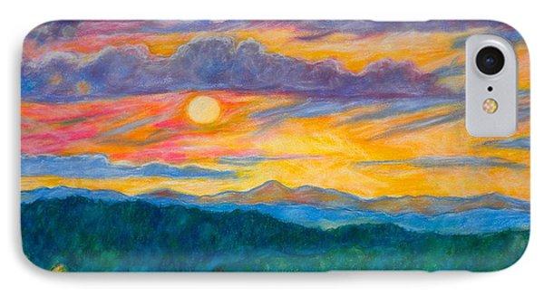 Golden Blue Ridge Sunset Phone Case by Kendall Kessler