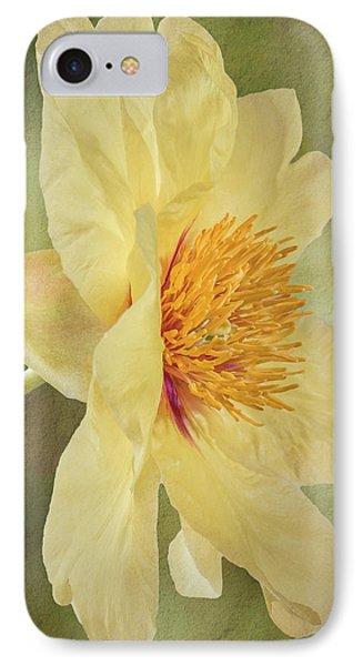 Golden Bowl Tree Peony Bloom - Profile IPhone Case