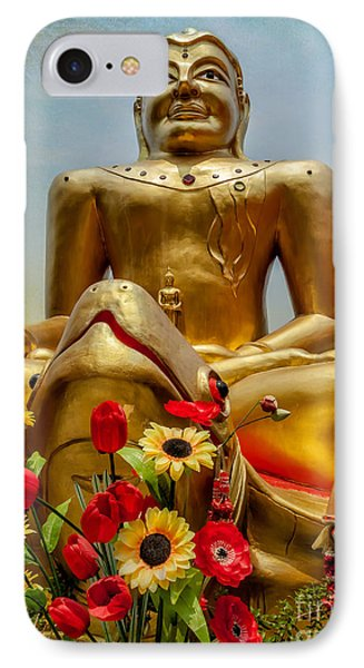 Flowers For Buddha  IPhone Case by Adrian Evans