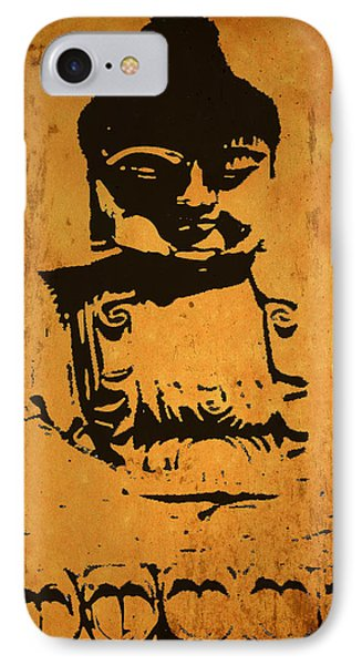 IPhone Case featuring the digital art Golden Buddha by Kandy Hurley