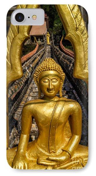 Golden Buddhas IPhone Case by Adrian Evans